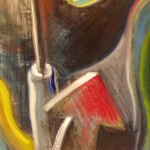 """""""Screwdriver and shades"""", oil and acrylic on canvas 48 X 24 inches (122 X 61 cm)"""