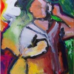 """""""I speak to me"""", acrylic on canvas 24X18inches(61X 46cm) -- SOLD"""