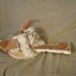"""Polar bear failure"", plaster, wood, wire,"